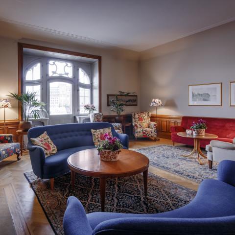 Living room 1st floor Hotel Esplanade Strandvagen Stockholm