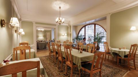 Seating area breakfast room Hotel Esplanade Strandvagen Stockholm